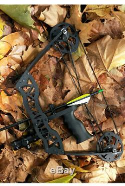 16 Mini Compound Bow Set 40lbs Hunting Bowfishing Archery Right Left Hand