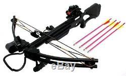 175 Lb Draw Black Hunt Large Game Hunting Compound Crossbow PRO FIBERGLASS LIMB