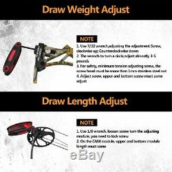 19-70lbs Compound Bow Package Kit Carbon Arrows Set Target Hunting Right Hand