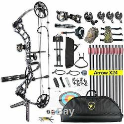 19-70lbs Compound Bow Target Archery Set Ready to Shoot Hunting Full Package RH