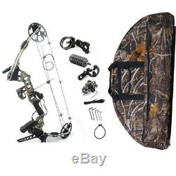 20-70 lbs Left Handed Archery Compound Hunting Bows KIT IBO 320 fps With Bow Bag