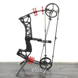 30-55lbs Archery Compound Bow Dual-use Catapult Steel Ball Arrows Aluminium Hunt