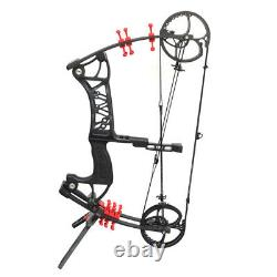 30-55lbs Compound Bow Steel Ball Dual-use Hunting Fishing Archery RH LH Shooting