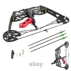 30lbs MINI Compound Bow Arrow Sight Bowfishing Left Right Hand Archery Hunting