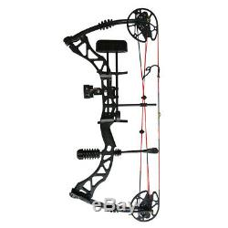 35-70lbs Archery Hunting Compound Bow Set Right Hand Late-off 75% Black 320fps