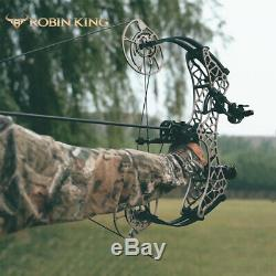 40-70lbs Archery Compound Bow 350fps Let-off 90% Short Axis Adjustable Hunting