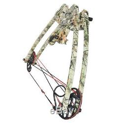 50lbs Right Left Hand Triangle Compound Bow Hunting Archery 270 fps Bear Camo