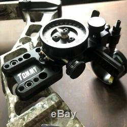 Archery 1 Pin Compound Bow Sight Pointer Adjustable Micro Adjustable Hunting