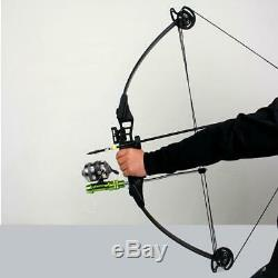 Archery 35 Compound Bow 30-40lbs Adjustable Hunting Fishing Shooting Right Hand