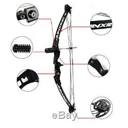 Archery Compound Bow 30-40lbs Adjustable Limbs Arrow Rest Stabilizer Hunting