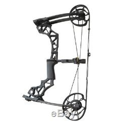 Archery Compound Bow 40-60lbs Hunting Fishing Catapult Steel Ball Dual-use Shoot