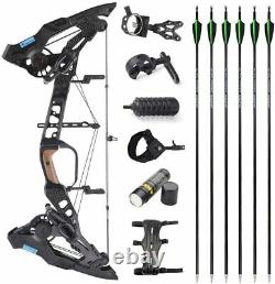 Archery Compound Bow Set 21.5-60lbs Steel Ball Dual Purpose Arrow Hunting 330fps