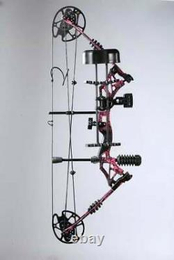 Archery Compound Bow Set 30-70lbs 330fps Arrows Sight Stabilizer Hunting Target