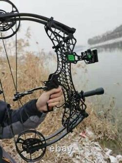 Archery Compound Bow Short Axis 320fps Steel Ball Hunting Fishing Adjustable