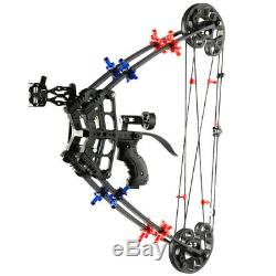 Archery Hunting Fishing Compound Bow Slingshot Catapult 2 in 1 Target 40lbs