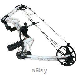 Archery White Compound Bow and Arrows Adjsutable Hunting USA Limbs Right Hand