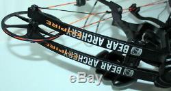 Bear Archery EMPIRE 70# 29 Draw RH Compound Hunting Bow Black NICE FREE SHIP US