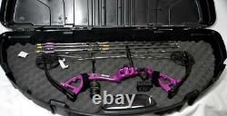 Bear CRUZER Purple Feminine Touch Bow with Hard Case-6 Arrows. RH