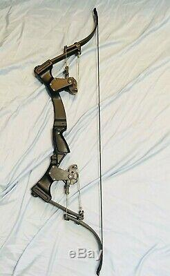 Beautiful Black Oneida Eagle Bow X80 Aero Force Fish/Hunt RH Med Draw 50-70 lb