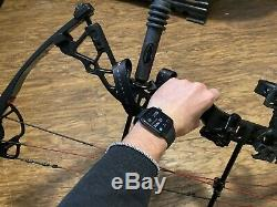 BowTech Fuel Compound Bow Left Hand ready to Hunt Withcase, Release, Arrows