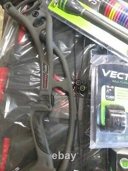 Brand new Hoyt RX-4 Alpha RH 50-60# Storm 28-30in with extras Rest sight quiver