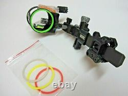 CBE CX-5 Carbon Dovetail Archery/Hunting Sight 5 Pin. 019 withLight-Right/Left Hand