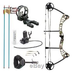 Compound Bow 30-55lbs Archery Hunting Set Equipment Right handed, Green Camo NEW