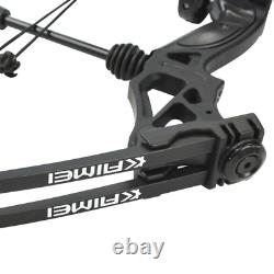 Compound Bow 30-70lbs Adjustable Arrow Rest Carbon Arrows Archery Shoot Hunting