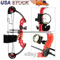 Compound Bow Archery Set Arrows Hunting 19-28Right Hand Teens Practice Hunting