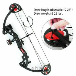 Compound Bow Set 15-29lbs Arrows Archery Hunting Equipment for Teens and Kids US