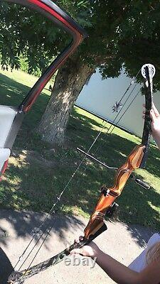 Darton 600WX Compound Bow Right Hand RH Hunting Vintage with Quiver & Case