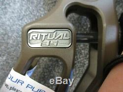 Elite Ritual-35 26½ to 30 RH 50# to 60# Archery Compound Hunting Bow OD Brown