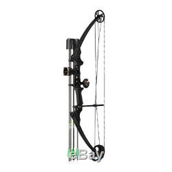 Genesis Archery Gen-X Bow Kit (Left Hand, Black) Hunting Bow with Arrows