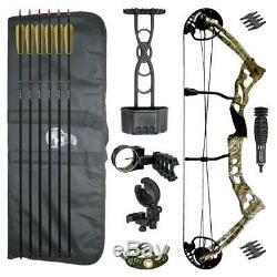 Hori-Zone Vulture Compound Bow Package Camo 65 pound Archery Set