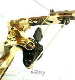 Hurry Rare Oneida Lite Force Magnum Eagle Bow Fishing Hunt RH 30-50-70 Long Draw
