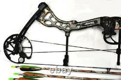 LEFTY Bear Archery Attitude Left Compound Bow 70# 7 Arrows
