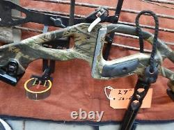 LOADED HOYT REDLINE COMPOUND HUNTING BOW 50-60 LBS 29 With Case