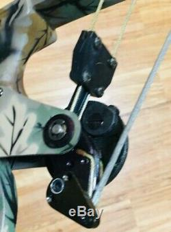 LOADED MINT ONEIDA EAGLE AERO FORCE X80 FISHING HUNT BOW RH 30-45-65LB ShortDrw