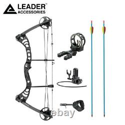 Leader Accessories Compound Bow 30-55lbs 19-29 Archery Hunting w Speed 296fps