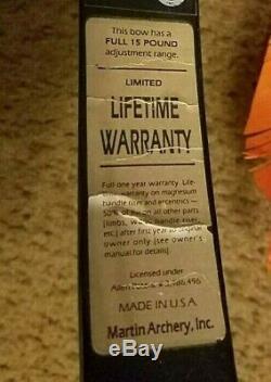 Martin Lynx Magnum M-7 Aluminum Steel Compound Bow Archery #1 Best To HUNT RT