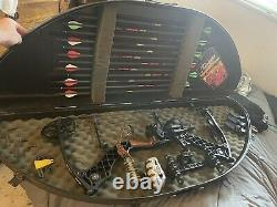 Mathews Heli-M Hunting Compound Bow 50-60 lb 27 Draw Fully Loaded Ready to Hunt