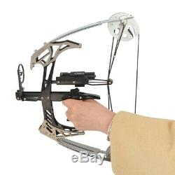 Mini Compound Bow Set 25lbs 14 Triangle Bow Arrows Archery Bowfishing Hunting