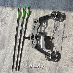 Mini Compound Bow Set 40lbs Arrows Archery Bowfishing Hunting Right Left Hand