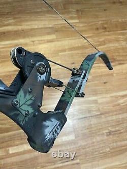 Mint Oneida Aero Force Hunting Fishing Bow 35-50-70 Lb Long Draw 29-32 LeftHand