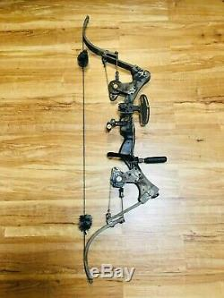 Mint Oneida Aero Force X80 Eagle Fish Hunt Bow Rh 30-50-70lb 28-31 Med Draw