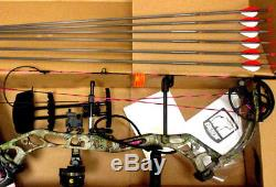 NEW Fred Bear Prowess Bow Right Hand 35-50# 50LB Ladies Womens Hunting PINK Camo