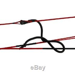 New Archery RTH 35-70Lbs Right Hand Compound Bow & Hunting Accessories Set Black
