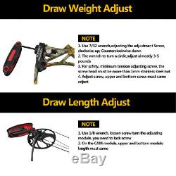 New Topoint M1 Compound Bow 19-30/19-70Lbs Right Hand Hunting Archery Target US