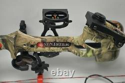 PSE Archery Sinister Compound RH Hunting Bow Package with Case & Arrows