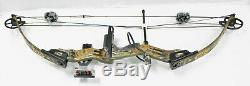 PSE mach6 compound bow trebark 28 60-70 lbs hunting Camuflage WithEXTRAS 28 ARROW